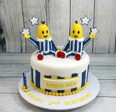 Bananas in pyjamas cake