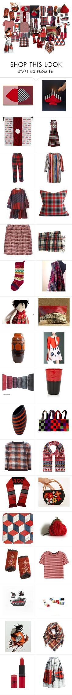 RED for YOU by talma-vardi on Polyvore featuring N-DUO, Moncler, WithChic, Moschino, dVb Victoria Beckham, Chicwish, Lulu Guinness, J.Crew, Overland Sheepskin Co. and BP.