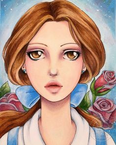 Ars Fantasia — My version of Belle from Disney's Beauty and the. Animation Film, Disney Animation, Disney Animated Films, Disney Fan Art, Spirit Animal, Art Blog, Mixed Media Art, Beauty And The Beast, Anime Characters