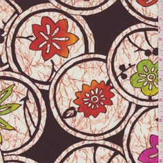 Brown Floral Activewear - 34633 - Fabric By The Yard At Discount Prices