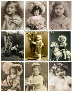 Vintage Women Photo Collage #108 Collage Sheet