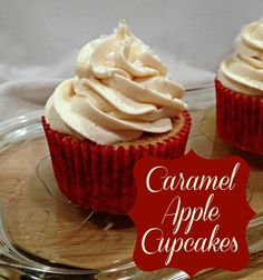 Ooey Gooey Caramel Apple Cupcakes   The TipToe Fairy (think for mine I'll grate the apple for the filling or purée it?)