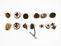 Junk Drawer Pin Lot Red Cross Treasury Pin Service by VintageGemz