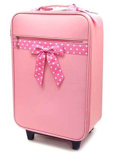 Pink suitcase for my travels