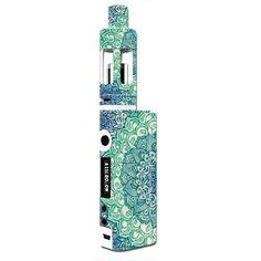 Skin Decal for Kangertech Subox Mini Vape Mod / blue green mandala pattern #itsaskin1