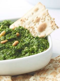 Garlicky Kale and Spinach Dip - much less rich and more green than most spinach dips at any rate