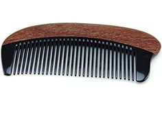Anti Static Natural Buffalo Horn & Red Sandalwood Massage Comb, Pocket Horn Comb 5 by Joyo Comb -- Awesome products selected by Anna Churchill