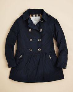 Burberry Girls' Mini Mantlebury Skirted Trench Coat - Sizes 4-14