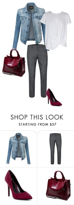 """""""Touch of deep red"""" by colourmyday ❤ liked on Polyvore featuring LE3NO, Charles by Charles David and MINKPINK"""