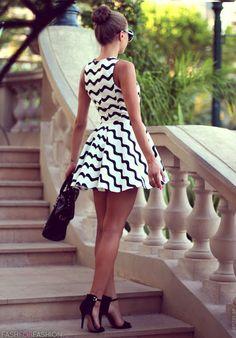 High buns, short dresses, and tall heels