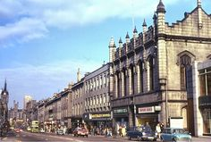 Old Aberdeen - Union Street. Littlewoods, now Primark, Macmillan's and Timpson's shoe shop, now the entrance to the Trinity Centre.