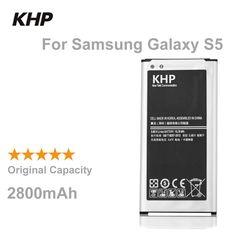 100% 원래 브랜드 khp 전화 배터리 samsung galaxy s5 g900s g900f g9008v g9006v nfc 내장 교체 모바일 배터리