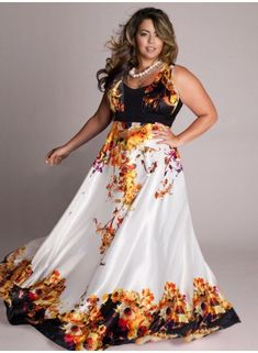 Plus Size Maxi Dress at www.curvaliciousclothes.com  Stand out at your next soiree with this vividly printed maxi dress. SAVE 15% NOW- Use code:SVE15 at checkout