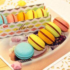 5 개/몫 참신 마카롱 고무 지우개 창조적 귀엽다 문구 학교 용품 papelaria 선물