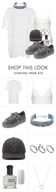 """""""Unbenannt #1117"""" by flytotheunknown ❤ liked on Polyvore featuring Band of Outsiders, T By Alexander Wang, Puma, Mignonne Gavigan, Vans, Pilgrim, Deborah Lippmann and Michael Kors"""