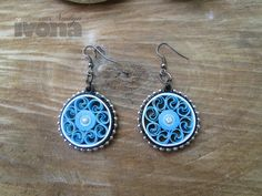 Quilling earrings - Beautiful Blue Circles (BBC) Paper Quilling, paper quilling jewelry, paper jewelry, paper earrings by ivonabg on Etsy