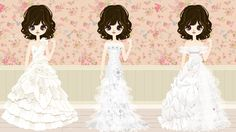 Different cartoon wedding dresses