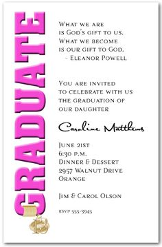 pink graduation party theme | Graduation Invitations: Tassel Charm & Hot Pink Graduation Invitations ...