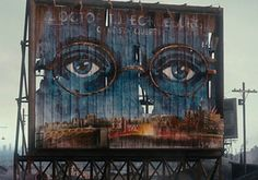 I hope I don't ever see this billboard in real life .... creepy!  (inspired by: The Great Gatsby)