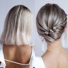 Classic Wedding Hair, Short Wedding Hair, Wedding Hair And Makeup, Bridal Hair, Undercut Hairstyles, Bride Hairstyles, Easy Hairstyles, Saree Hairstyles, Bridesmaid Hairstyles