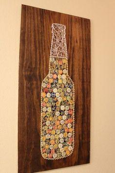 15 Botella Casquillo del arte ideas que usted puede hacer para su hogar