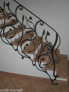 Wrought Iron RAILING. Personalised Executions. 004 #MartelliFerroBattuto Wrought Iron Porch Railings, Wrought Iron Window Boxes, Wrought Iron Wall Art, Wrought Iron Driveway Gates, Wrought Iron Bench, Iron Gates, Wrought Iron Garden Furniture, Wrought Iron Candle Holders, Wrought Iron Chandeliers