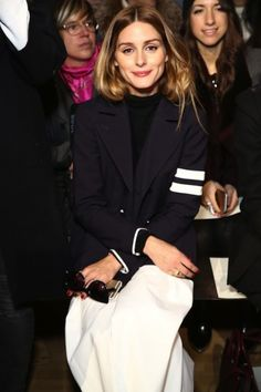 Olivia Palermo bij Tibi - Front Row in New York - Fashion Week - Fashion