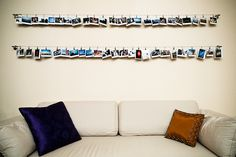 Wire hardware from IKEA, displaying instax mini prints