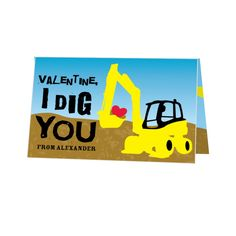 I Dig You - Valentine's Day Cards for Kids in Sunny Yellow | Hello Little One