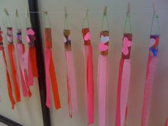 Valentine Windsocks. Toilet paper & crepe paper (plus hearts/markers to decorate)...