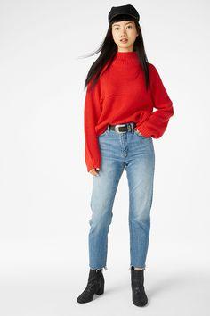 Knit sweater - Red dragon - Knitwear - Monki GB