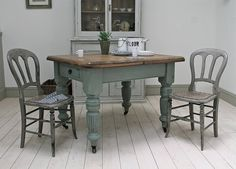 antique dining table shabby chic white distressed kitchen round