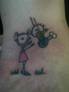 Brother Sister Tattoo Ideas Cartoon