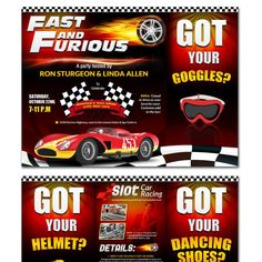 Party invitation for a business party-slot car racing and live band by VGaneshayan1
