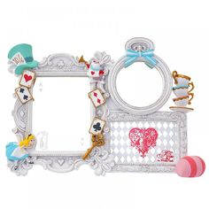Tokyo Disney Store Alice in Wonderland Stand mirror Trump Alice 1395 #Disney