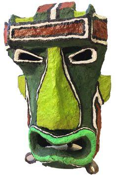 """Olive de Calvingrad    TIKI II 55.00 cm x 40.00 cm x 40.00 cm (21.65"""" x 15.75"""" x 15.75"""")   MATÉRIAUX DE RÉCUPÉRATION CHF 400.00 Les Oeuvres, Backpacks, Sculpture, 3d, Bags, Handbags, Backpack, Sculptures, Sculpting"""