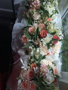 Bridesmaids flowers and  by www.cherfoldflowers.com