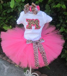 Hot Pink Leopard Princess Tutu. Sophia's birthday outfit! Should be here this week!