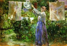Peasant Hanging out the Washing 1881 - Morisot, Berthe