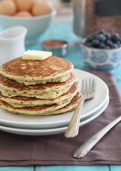 Meyer Lemon Quinoa Pancakes - a delicious way to treat yourself for breakfast!