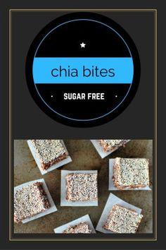 No Bake Chocolate Chia Bites Sugar Free Baking, Sugar Free Treats, Sugar Free Recipes, Healthy Sugar, Healthy Treats, Healthy Recipes, Peanut Butter Roll, Baking Parchment, Free Food