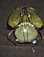Iradj Moini, Peridot, Bug, Insect, Large Beetle Brooch, Jeweled Emerald Citrine