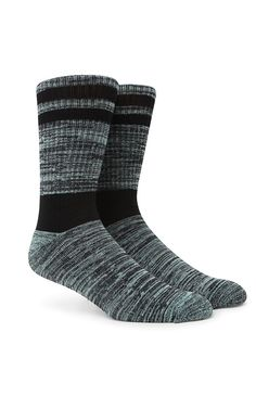 PacSun presents the On The Byas Gym Blocked Mint Crew Socks for men. These striped men's crew socks offer an updated look to those old school crew socks thanks to the cool color.	Allover multi color print crew socks	Machine washable	Imported