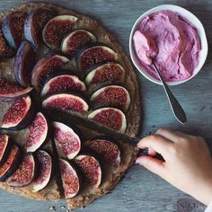 Fig Pizza Pie with Pink Whipped Coconut Cream