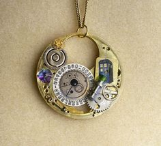 "Doctor Who Steampunk Necklace ""Soul of the Tardis"" @Kate Davis @Ashley Halstead @Mary Harken @Merridy @FCS in general"