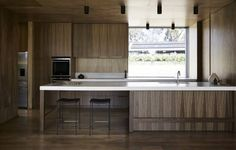 Form and function: Wallington - Issue 91 - Magazine | Monocle Kitchen Cabinet Colors, Kitchen Colors, Kitchen Cabinets, Layout Design, Dark Wooden Floor, Bunk Beds With Storage, Corporate Office Design, Ikea, Commercial Design