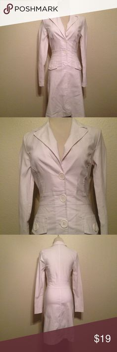 Classy Fitted White Trench Coat Great condition! Papaya Jackets & Coats Trench Coats