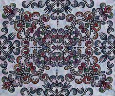 Sparkling Quilt スパークリング キルト 157x190 2014 Selected - Japan Quilt Grand Prix, Original Design Quilt Category 日本キルト大賞 創作キルト部門 入選 Nakazawa Felisa 中沢フェリーサ