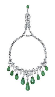VAN CLEEF & ARPELS: collar art déco de esmeraldas, joya de la Corona Egipcia