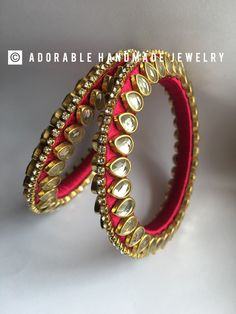 For orders whats app contact 7680844664 Silk Thread Bangles Design, Silk Thread Necklace, Silk Bangles, Thread Jewellery, Fabric Jewelry, Trendy Fashion Jewelry, Jewelry Making Tutorials, Jewelry Patterns, Making Ideas
